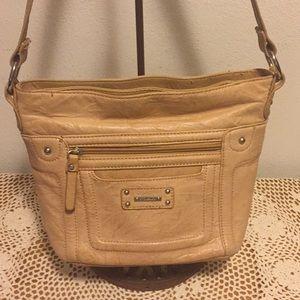 Stone & Co. Shoulder Bag Beige ZIP Top